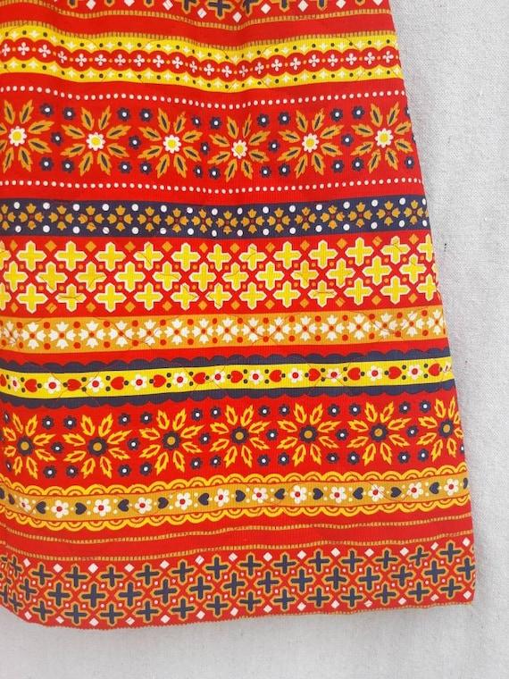 Vintage Lanz Original Quilted Mini Skirt 1960s 19… - image 8