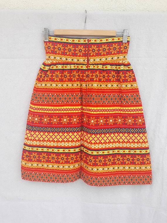 Vintage Lanz Original Quilted Mini Skirt 1960s 19… - image 3