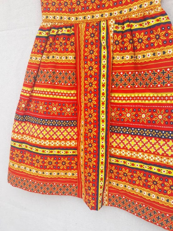 Vintage Lanz Original Quilted Mini Skirt 1960s 19… - image 6