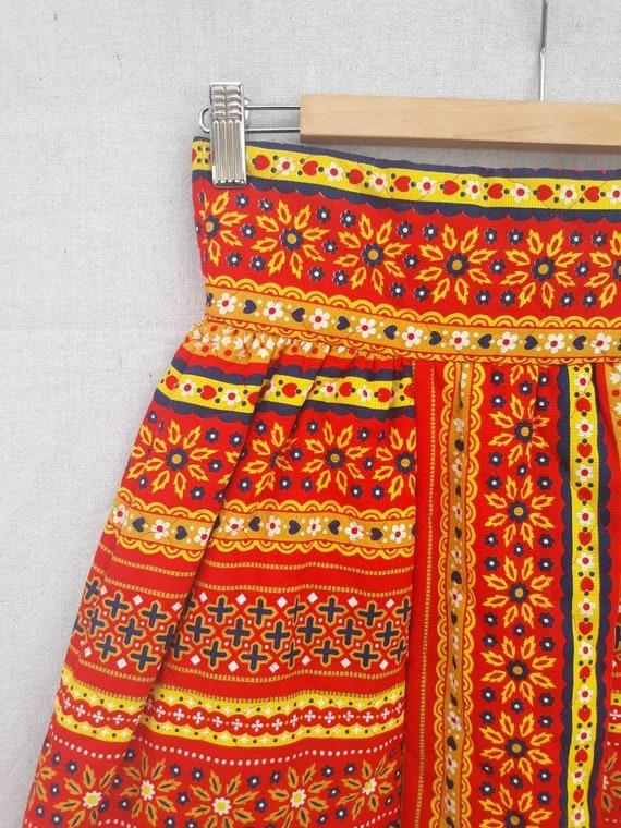 Vintage Lanz Original Quilted Mini Skirt 1960s 19… - image 7
