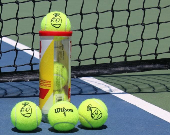 Mr. Samoji Logo Tennis Balls
