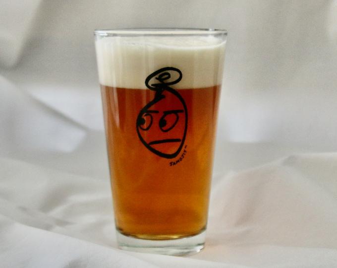 Mr Samoji Logo Pint Glass