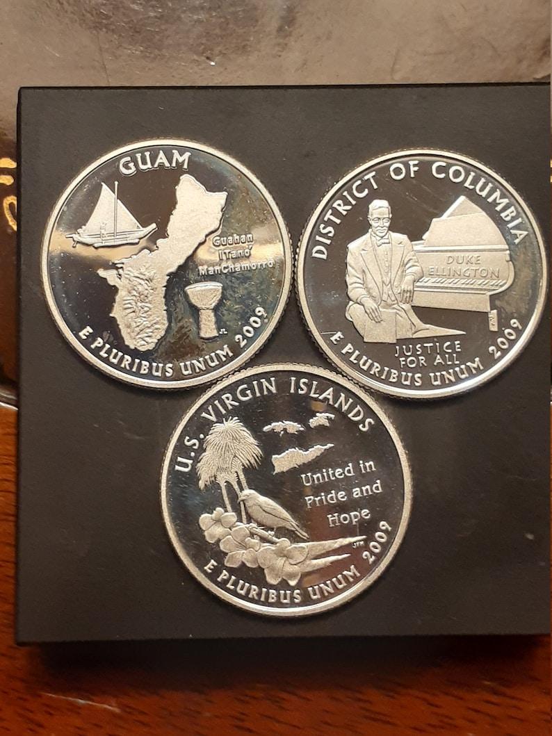 district of Columbia virgin islands proof silver lot 3 piece 2009-S Guam