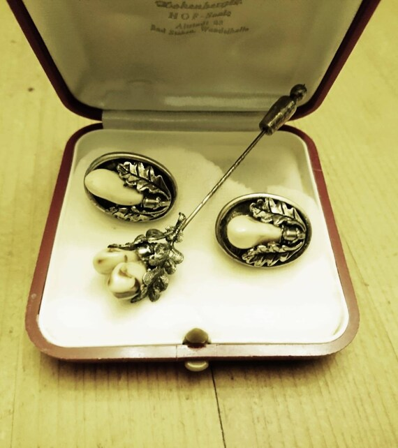 Antique Hunting Jewelry Men's Jewelry Silver 1930s