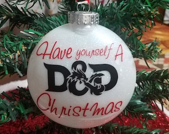 Custom Dungeons and Dragons Christmas Ornaments ( Great gifts for Dungeon Masters or Players)