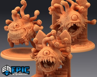 Eye Tyrant Miniature, High Quality Tabletop RPG 3D Printed (Dungeons and Dragons, Pathfinder and Warhammer)