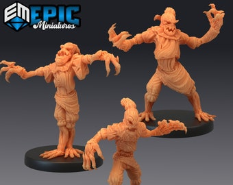Scarecrow Miniature, High Quality 28mm 32mm Tabletop RPG 3D Printed, Great for Dungeons and Dragons, Pathfinder and Warhammer
