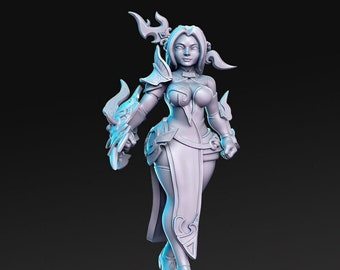 Mai the Seducer Miniature, High Quality 28mm 32mm Tabletop RPG 3D Printed, Great for Dungeons and Dragons, Pathfinder and Warhammer