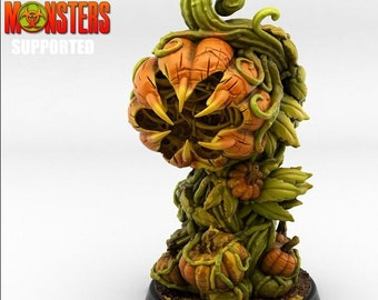 Pumpkin Plant Miniature, High Quality 28mm 32mm Tabletop RPG 3D Printed, Great for Dungeons and Dragons, Pathfinder and Warhammer