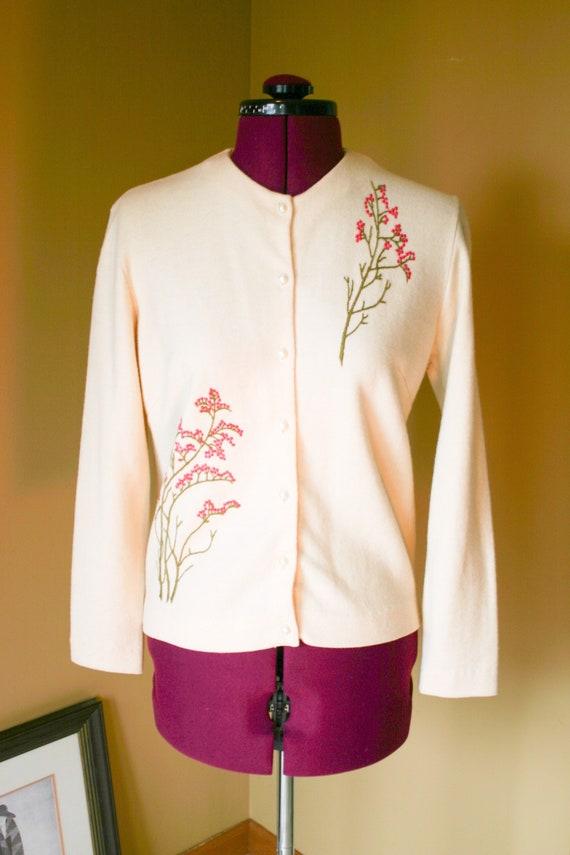 Vintage Jantzen wool embroidered cardigan