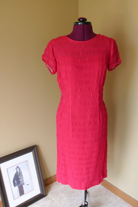 Vintage Radiant Exclusives 50s Shirred rayon crepe