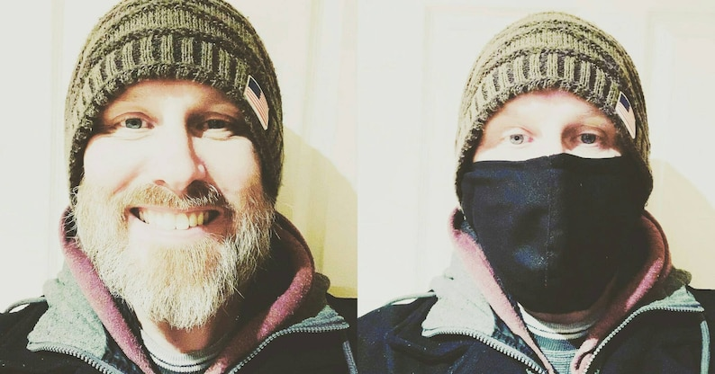 Extra Large Face Masks For Beards / 3 Layer 100% Cotton / image 0
