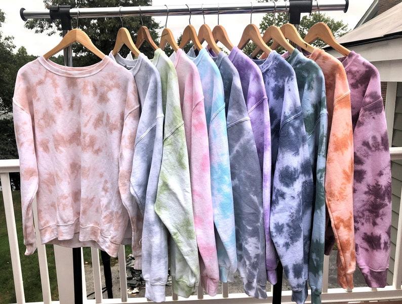 Tie dye crewneck sweatshirt image 0