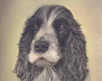 Custom hand drawn portrait of your pet
