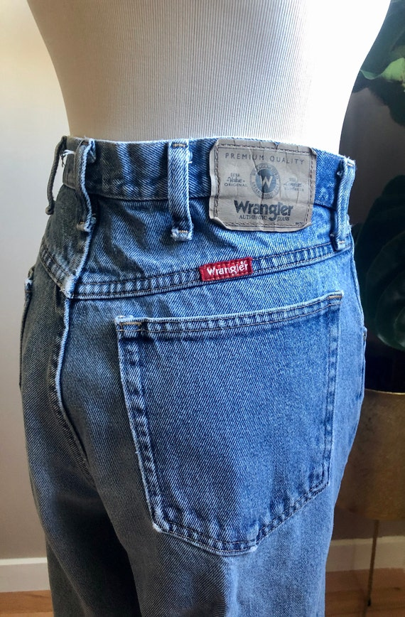 wrangler raw jeans