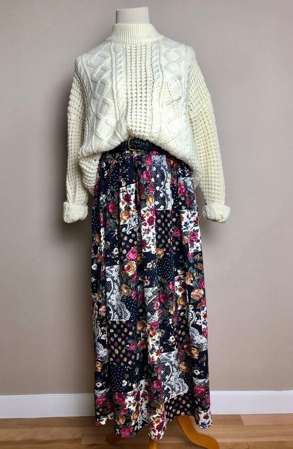 dark patchwork skirt