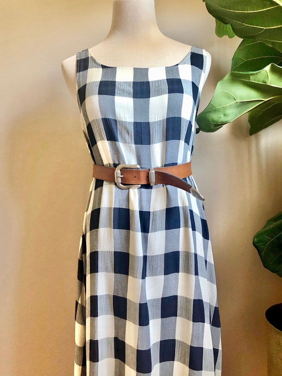 gingham maxi dress