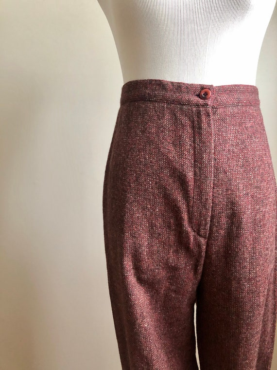 wool cranberry trousers - image 3