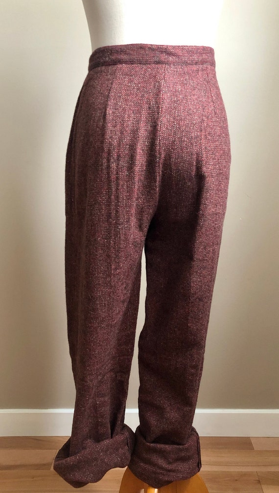 wool cranberry trousers - image 4