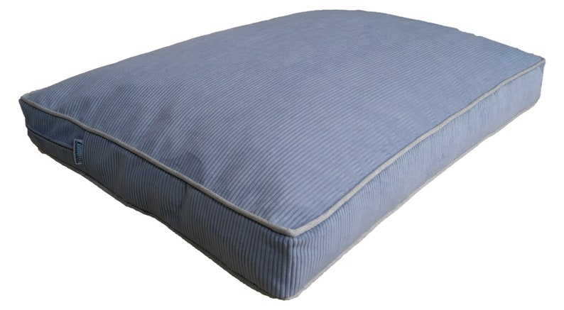 27x39x4 sky blue color stylish and modern lines custom size dog bed cover with 100/% water proof inner cover