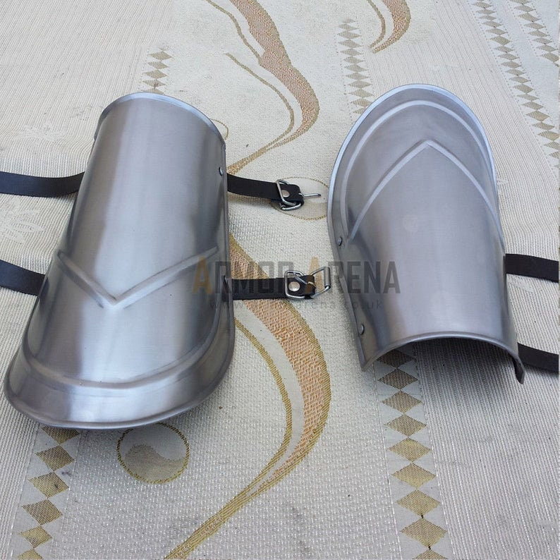 Metal Arm Protection Steel Armor Bracers Pair of Armour Fantasy item