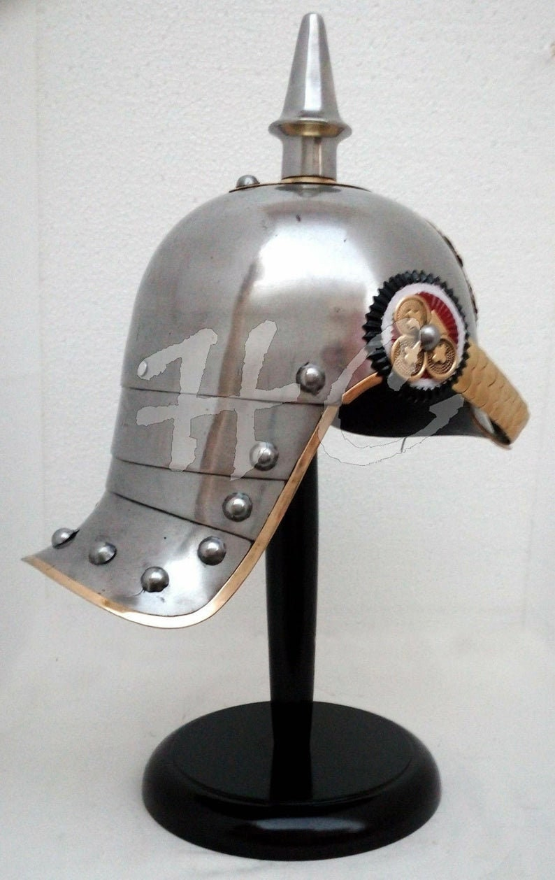 Armour German Prussian PickleHaube Helmet with stand officers choice