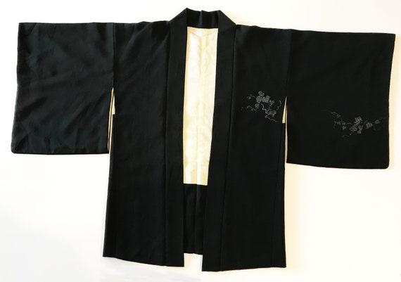 Japanese vintage black kimono