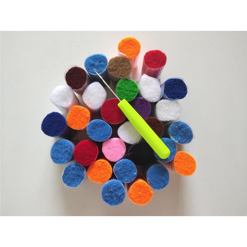 52x38CM Mickey Latch Hook Rug Set Handmade Crafts Embroidery DIY Crochet Handmade Needlework Supplies Home Decoration