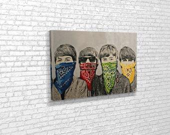 Banksy-The Beatles Music Band GRAFFITI Wall Art Photo Poster//Toile Photos
