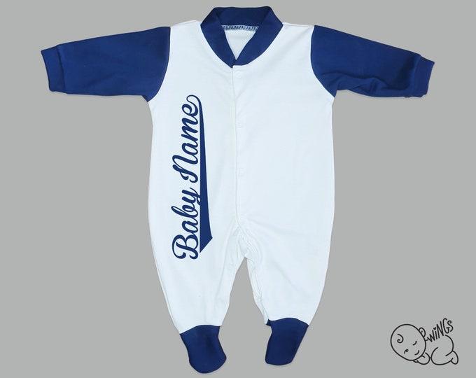 Blue Arm personalised sleep suit