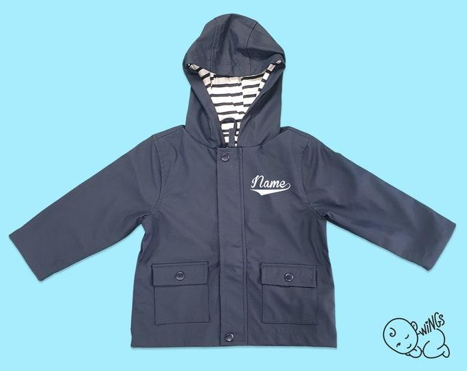 Blue Raincoat (Personalised)