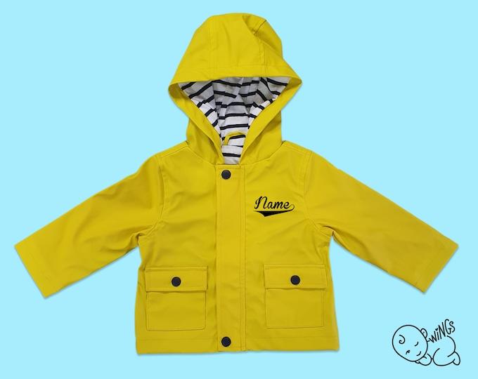 Yellow Raincoat (Personalised)