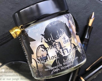 bookish gift book magnets book lover gift book themed soy candle Sherlock Holmes gift set mothers day gift Holmes and Watson earrings