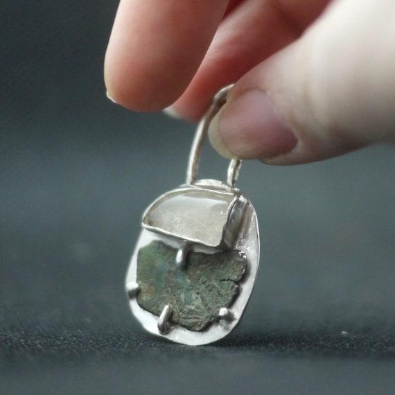 Coin & rutile quartz talisman