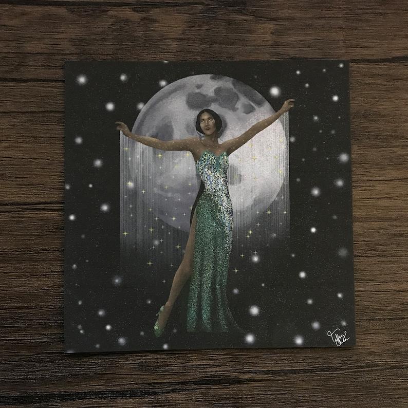 039 The Libra  Art Print  5 x 5 inches  Clow Card Series image 0