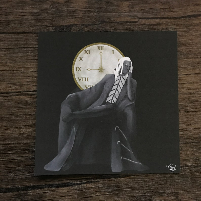 014 The Time  Art Print  5 x 5 inches  Clow Card Series image 0