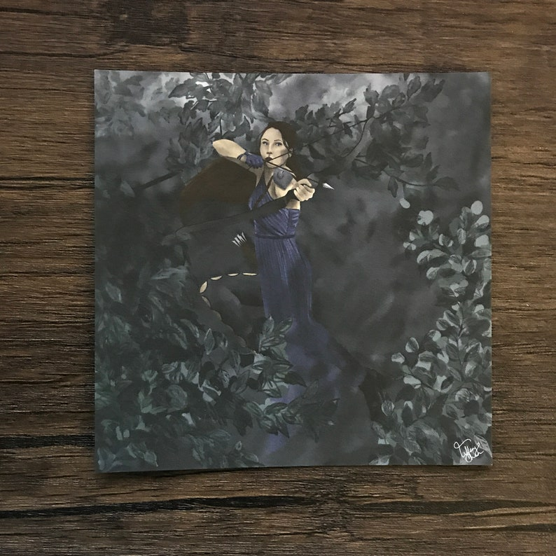 038 The Arrow  Art Print  5 x 5 inches  Clow Card Series image 0