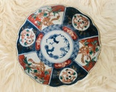 Rare Antique Japanese Imari Hand Painted Scallop Bowl - 6