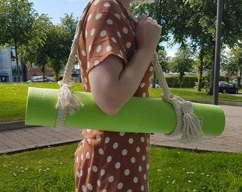Yoga Mat Strap   Yoga Mat Carrier   Adjustable Mat Strap   Yoga Gift   Macrame Yoga Mat Strap   Exercise Mat Strap   Gift For Her