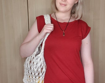 Handmade Macrame Market Bag, Reusable Grocery Bag, Produce Bag, Zero Waste Living