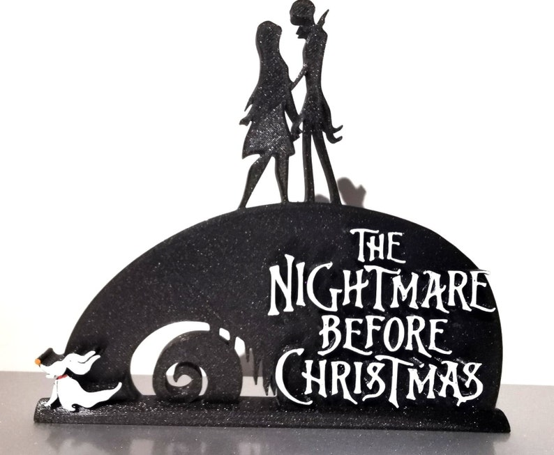 Nightmare Before Christmas Jack /& Sally Standing Sign