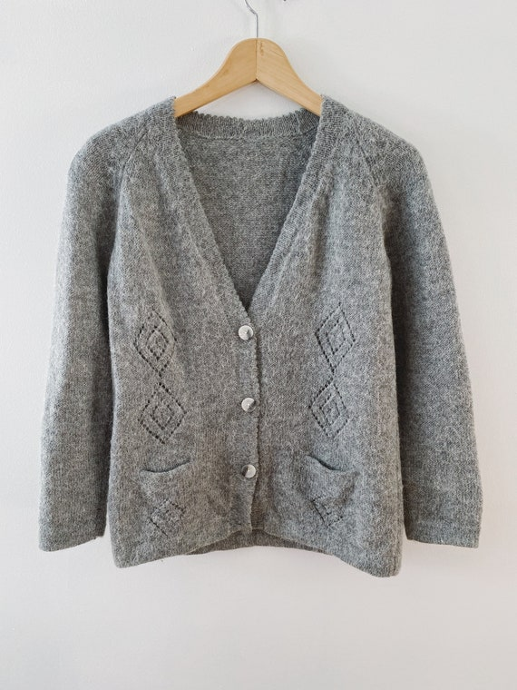Vintage Wool and Mohair Sweater, Warm Knit Jumper