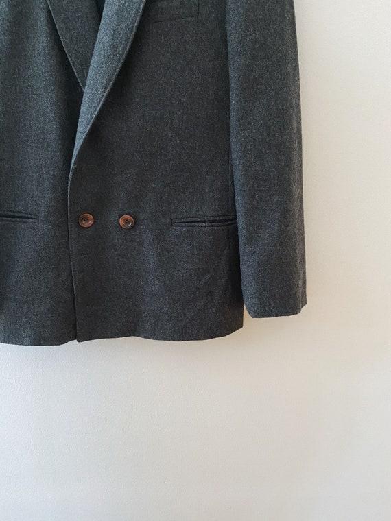 Vintage Wool Blazer, Oversized Boyfriend Blazer