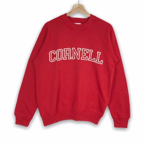 Vintage CORNELL UNIVERSITY Printed Spell Out University Outfits Crew Neck Sweatshirt  Unisex Clothing Size Large