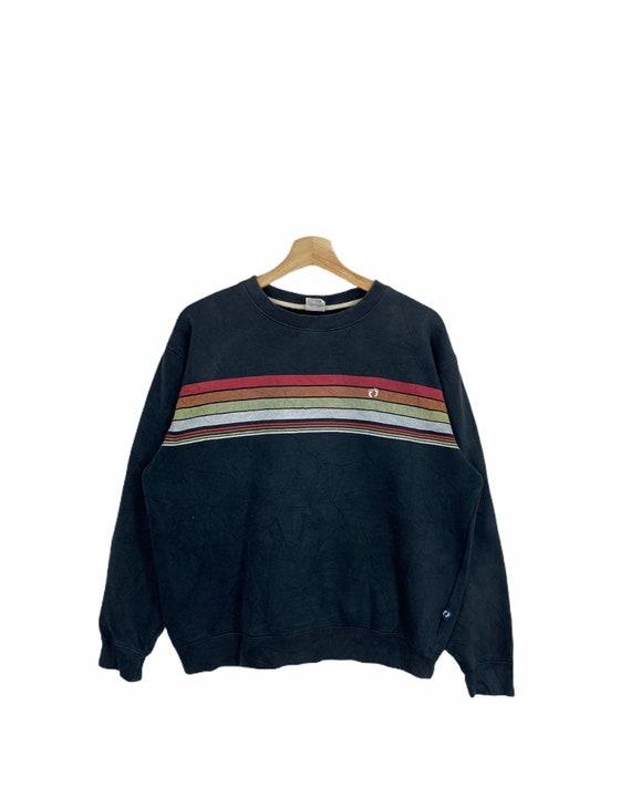 HANG TEN Stripe Sweatshirt Hang Ten Embroidery Sma