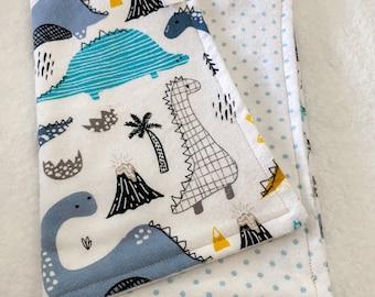 ships next day! Gender Neutral burp cloth set of 3 chenille Dear Stella designer fabrics