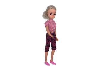 Pink Cropped Trousers for Sindy, Kruselings and Mini Amigas dolls