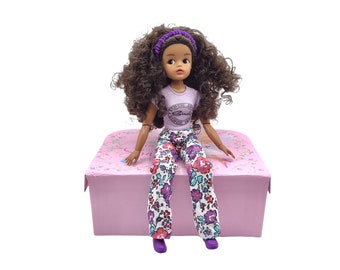 Floral Cotton Trousers for Sindy dolls