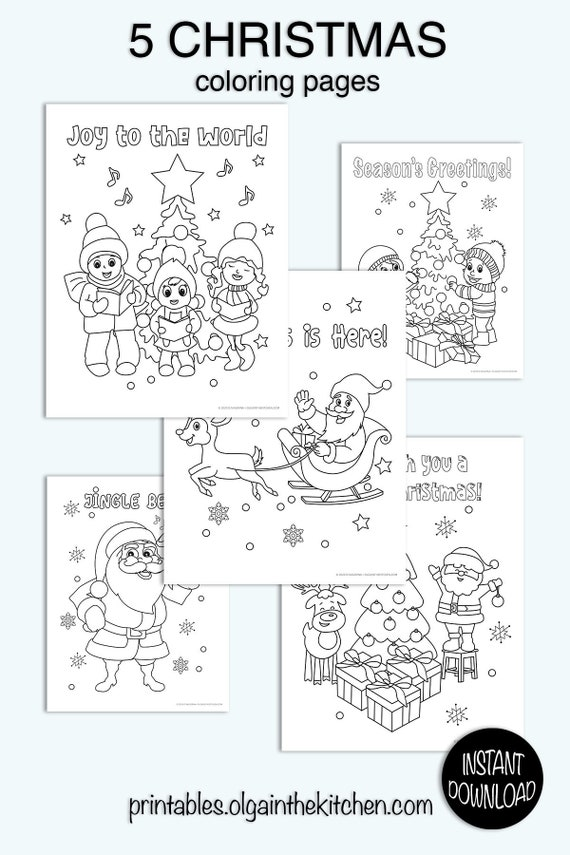 - Christmas Coloring Pages Printable Coloring Pages Christmas Etsy