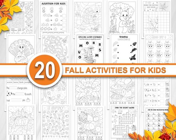Autumn activities for kids Fall book printable Kindergarten